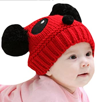 83951ed9bc6 Image Unavailable. Image not available for. Color  ZEHAT Red Panda Handmade  Knitted Wool Crochet Hat Baby Girls Boys Beanie Caps ...