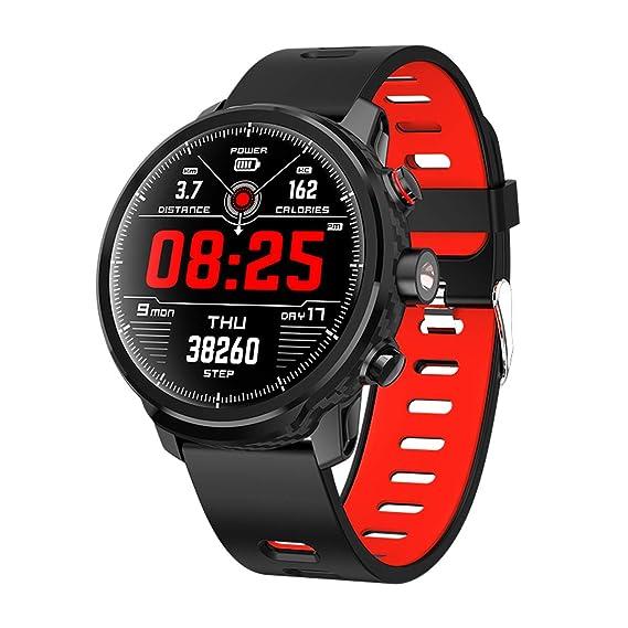 Reloj Inteligente con Monitor de Ritmo cardíaco y podómetro, Monitor de sueño, calorías, Contador de Pasos, Reloj Inteligente para Hombres, Mujeres y niños: ...