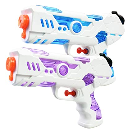 Leoie Children Holiday Air Pressure Blaster Water Toy Kids Colorful Beach Squirt Toy (Random Color)