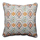 """25"""" Orange and Gray Southwest Oasis Corded Floor Pillow"""