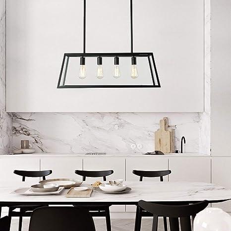 L Iluminación Colgante de la Isla de la Cocina, lámpara de ...