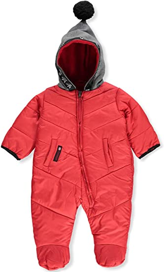 Canada Weather Gear Baby Girls Flap /& Zipped 1-Piece Snowsuit
