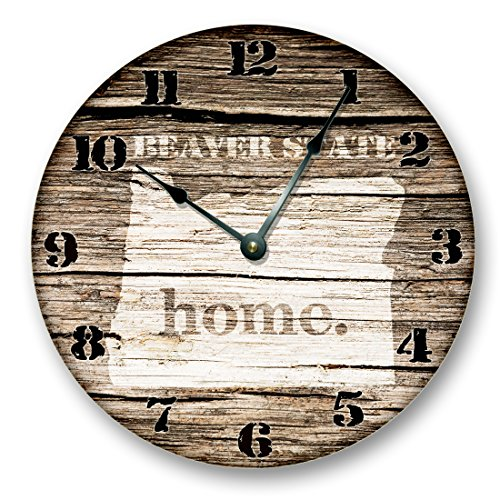 OREGON STATE HOMELAND CLOCK -BEAVER STATE - Large 10.5