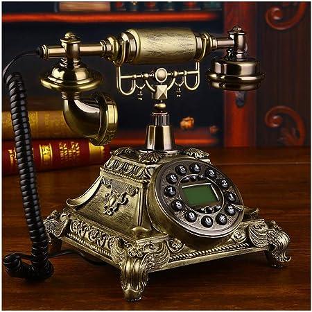 LYDIAMOON Arcaicas gsm 900, 1800 MHz Tarjeta SIM Telefono Fijo Retro Inalámbrico Casa Oficina Telefone Teléfono,Marrón: Amazon.es: Hogar