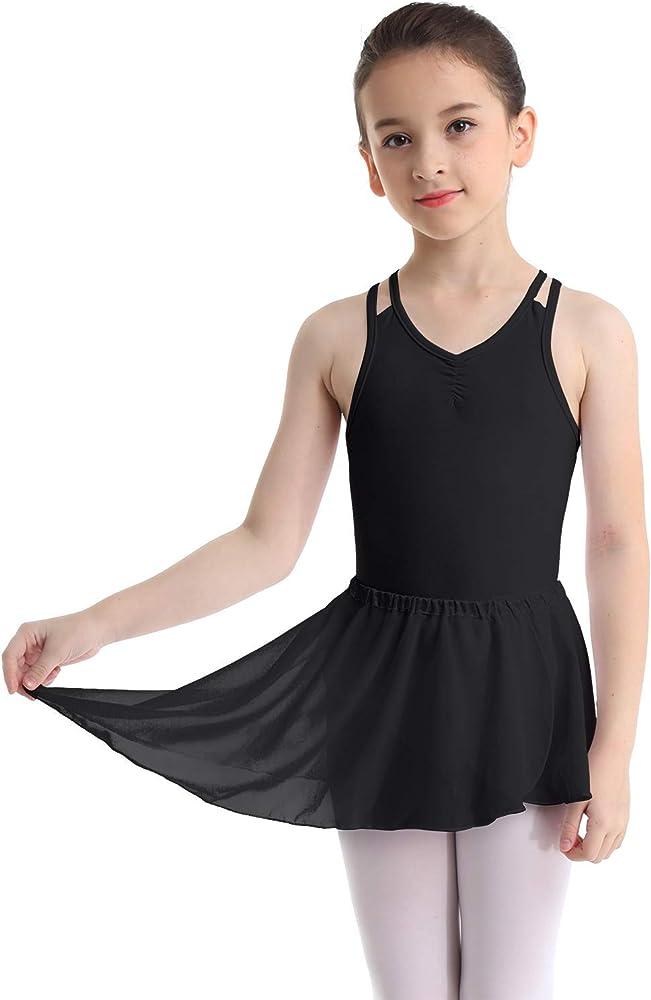 iixpin Mailot de Danza para Niña Ropa de Ballet Maillot Leotardo ...