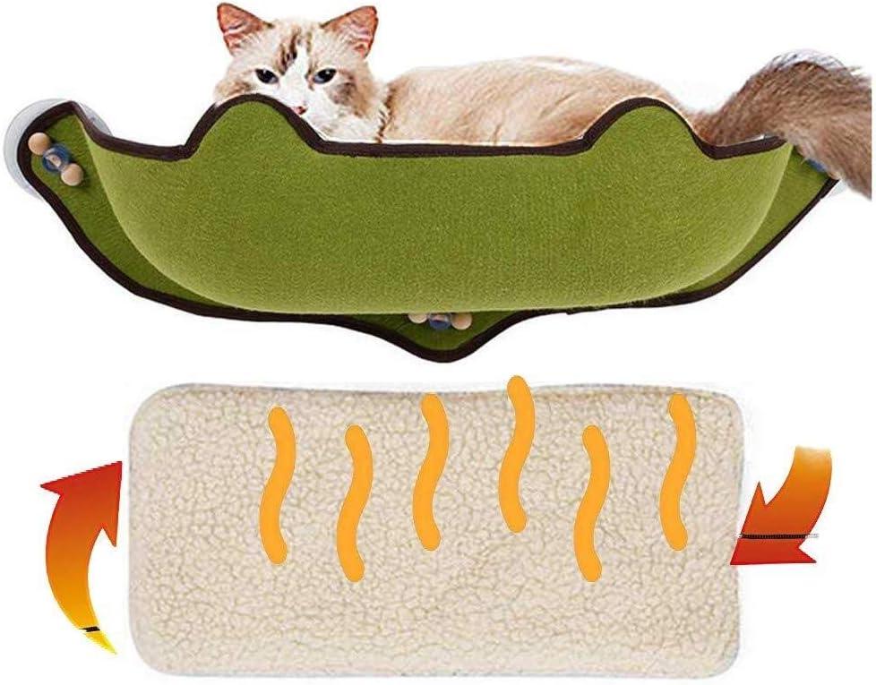 Carga m/áxima 15 kg Proporciona un jacizo Gatos Incluye coj/ín Suave y c/álido WSZD Hamaca Gato para Ventana con ventosas Fuertes y Resistentes
