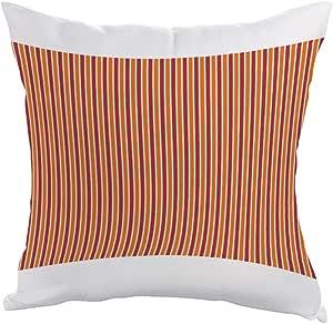 مخدة  بتصميم زخرفة  بخطوط ملونة، قماش بوليستر 40cm X 40cm