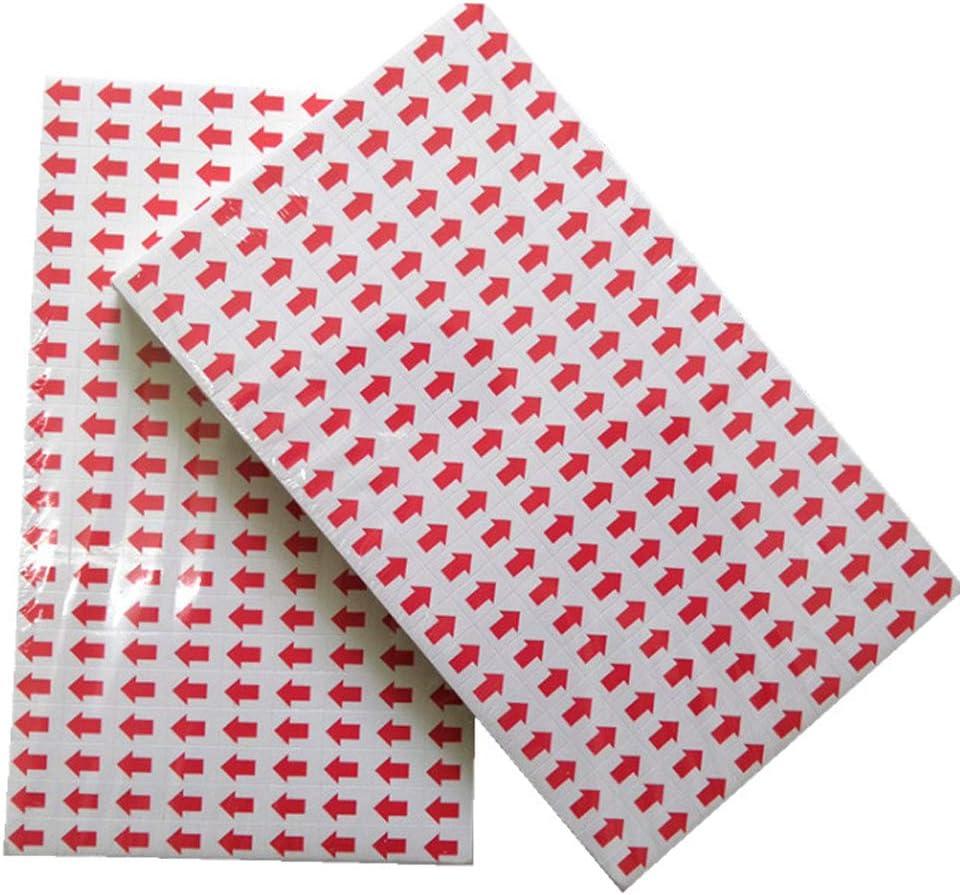 indicatori di difetti etichette autoadesive 50 fogli//180 adesivi per foglio adesivi per frecce Ecobene