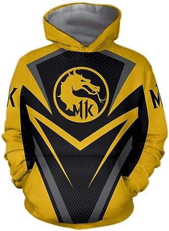 Hoodies Mortal-Kombat Cosplay Unisex 3D Print Sweater Kangaroo Pocket Anime Hoody Sweatshirt for Mens,Womens,Teens