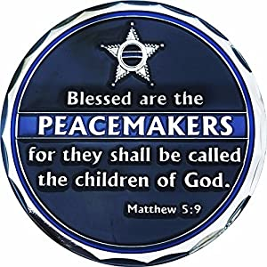 Blessed are The Peacemakers St Michael Protect US 5 Point Star Challenge Coin from Rescuetees
