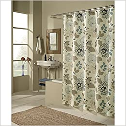 M Style Morgan Shower Curtain Blue Curtains Polyester 0815130011846 Amazon Books