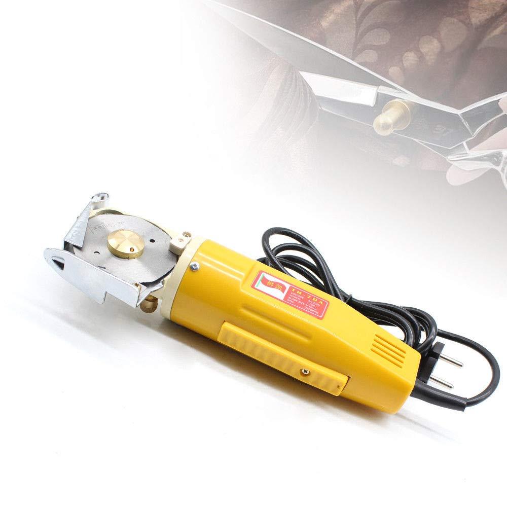 70mm Hoja de sierra el/éctrica cortadora tela del cortador materia textil 170W M/áquina Corte Tela Pa/ño El/éctrico Cuchillo Circular Herramienta Costura