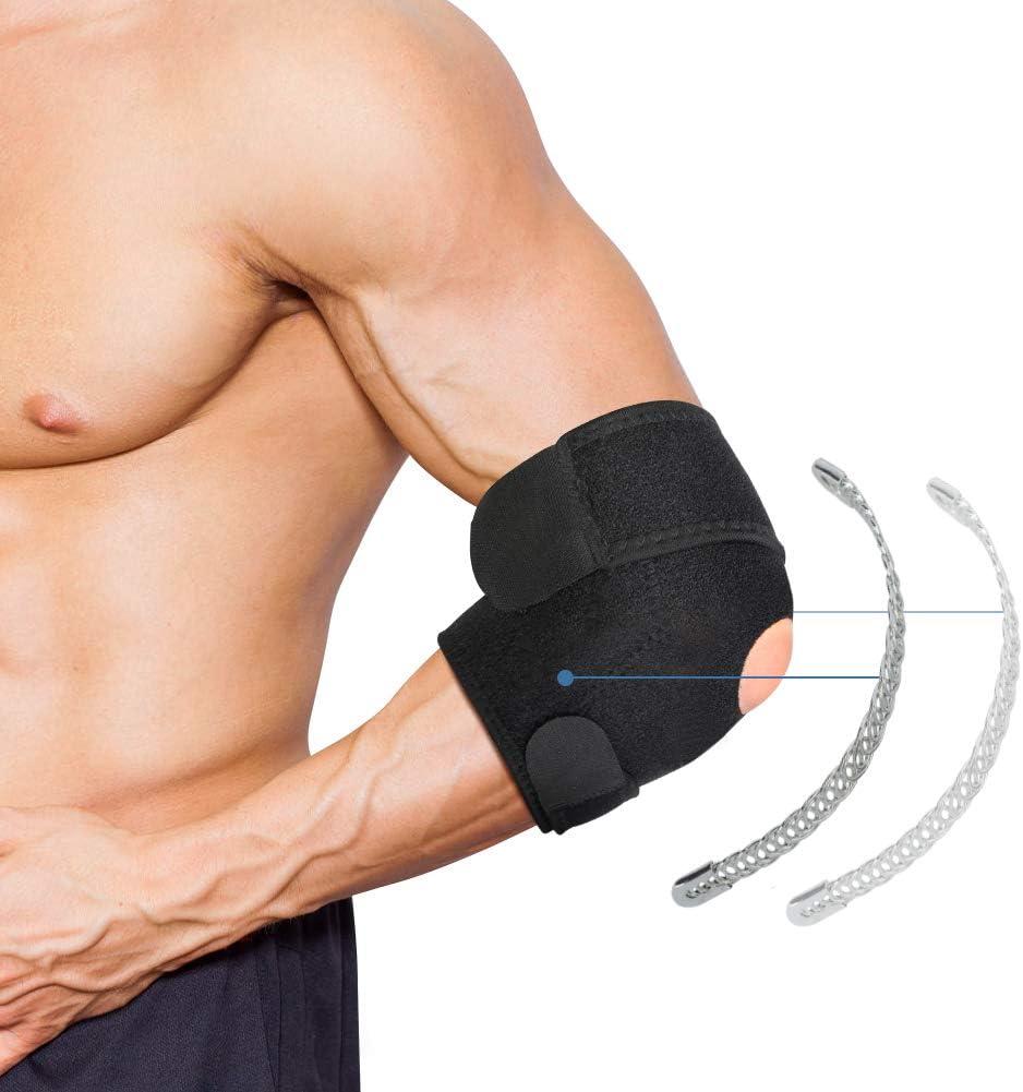 Codera para Epicondilitis, Codera Ajustable, Codera Tendinitis para Artritis, Codo de Tenista, Lesiones Deportivas, Codo de Golf y Alivio del Dolor del Codo del Gimnasio