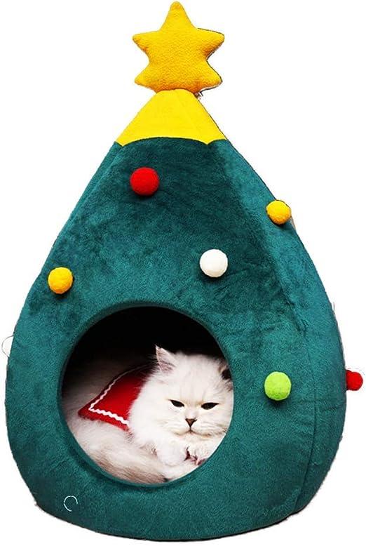 Monba Cama para Gatos Forma de árbol de Navidad, triángulo, Cueva ...