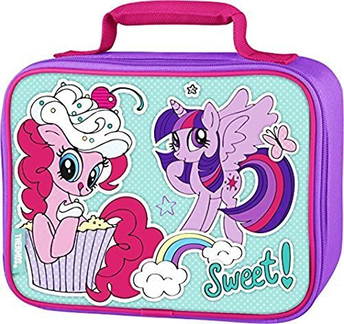 MY LITTLE PONY PINKIE PIE TWILIGHT SPARKLE HASBRO Thermos Lunch Tote Box Bag
