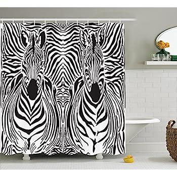 Zebra Print Bathroom Set | Amazon Com 19pcs Bath Accessory Set Lovely White Zebra Print