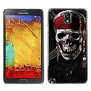 - Skull Devil Diablo - - Monedero pared Design Premium cuero del tir¨®n magn¨¦tico delgado del caso de la cubierta pata de ca FOR Samsung Galaxy Note 3 N9000 N9008V N9009 Funny House