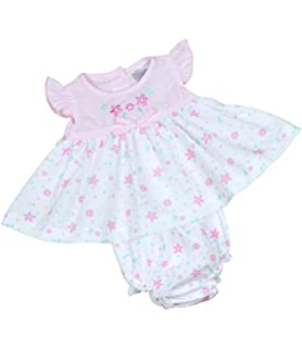 a4e96ccc4e9 Babyprem Premature Baby Dress   Knickers Set Flowers Girls Clothes Pink  White