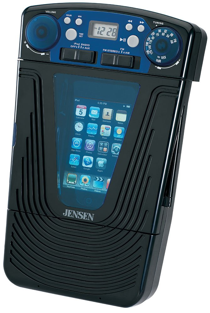 Amazon.com: Jensen JISS 85 IPod MP3 Docking AM FM Shower Radio Stereo W/LCD  Clock: Home Audio U0026 Theater