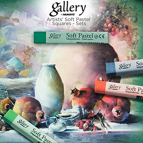 Mungyo Gallery Soft Pastel Squares Cardboard Box Set of 48 - Assorted Colors