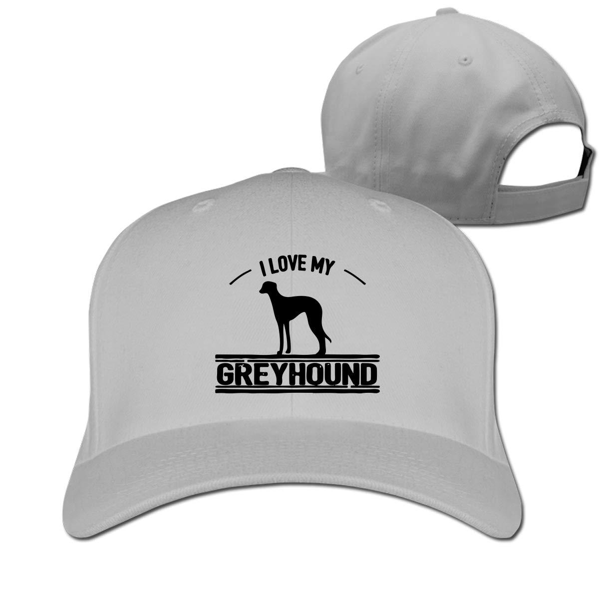 I Love My Greyhound Dog-1 Unisex Pure Color Baseball Cap Classic Adjustable Visor Hat