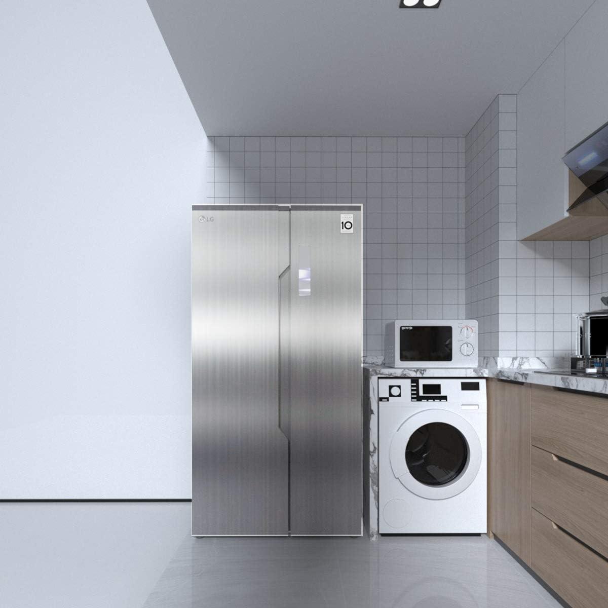 TOTIO Pegatinas de acero inoxidable cepillado para cocina estufa refrigerador plata película autoadhesiva de vinilo estante revestimiento de papel de contacto adhesivo adhesivo de plástico: Amazon.es: Bricolaje y herramientas