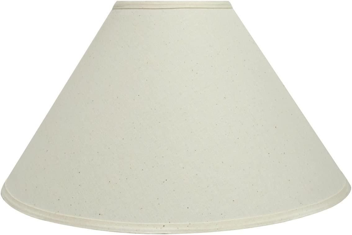 Aspen Creative 32204 19 Wide 6 x 19 x 12 Transitional Hardback Empire Shaped Spider Construction Lamp Shade, White