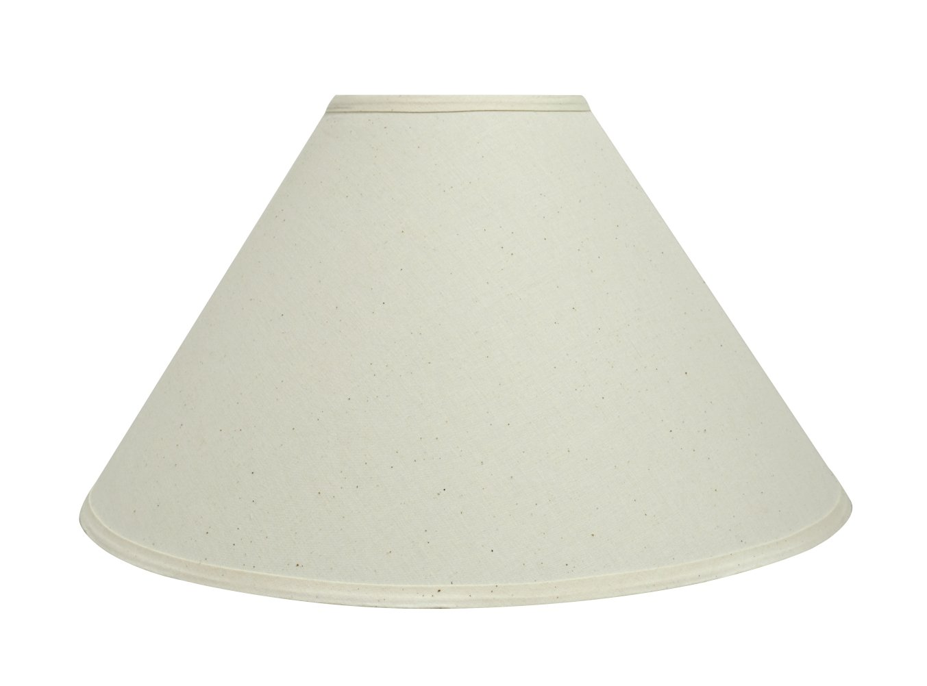 Aspen Creative 32204 19'' Wide (6'' x 19'' x 12'') Transitional Hardback Empire Shaped Spider Construction Lamp Shade, Off White