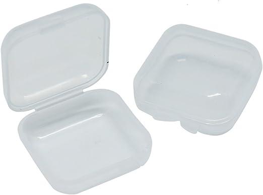 Pomeat - Caja pequeña de plástico Transparente para Guardar ...