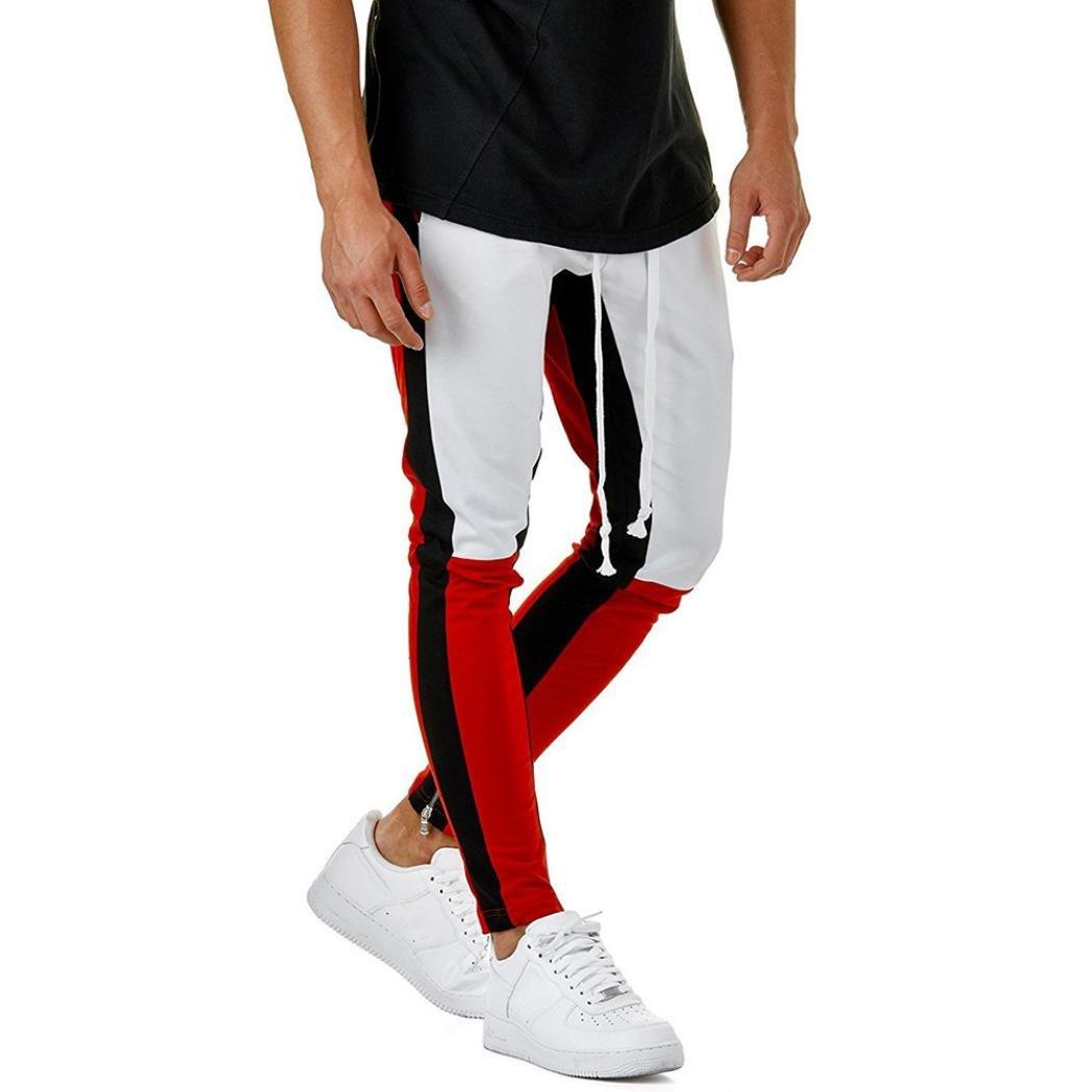 Sonnena Pantaloni Pantaloni Casual Sportiva Uomo, Sportivi con Cuciture Casual da Uomo Pantaloncini Sportivi da Jogging da Uomo di Moda Pantaloni Sportivi Allentati Casuali