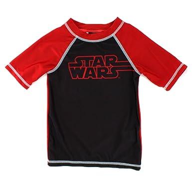 Star Wars Boys Rashguard Swimwear (4, Force Black)