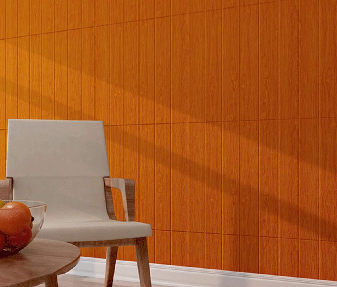 壁紙シール 70x70cm 3d 防水 クッションタイプ 木の色a 20枚 木目