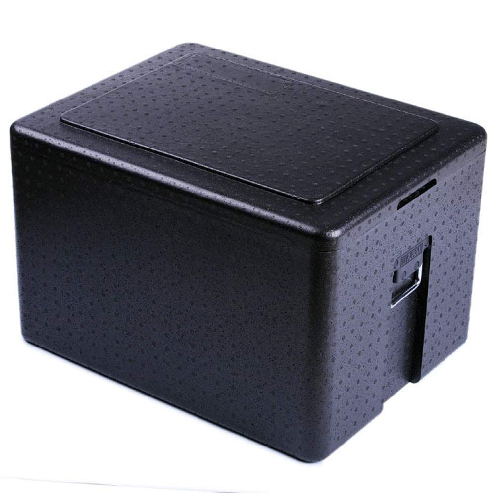 Black Incubator, Large-Capacity Plastic Thickening Take-Out Incubator, 65L Food Turnover Box, Size: 23.8in × 18.3in × 15.4in