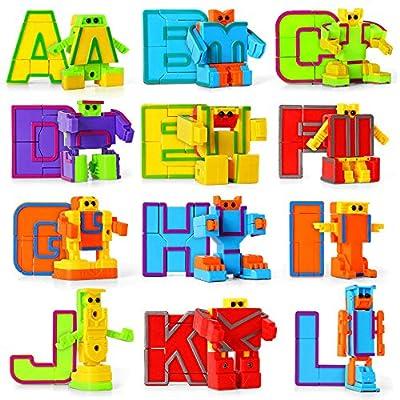 miYou Alphabet Robot Figure for Preschool Kids Educational Learning Toys 26 Pieces