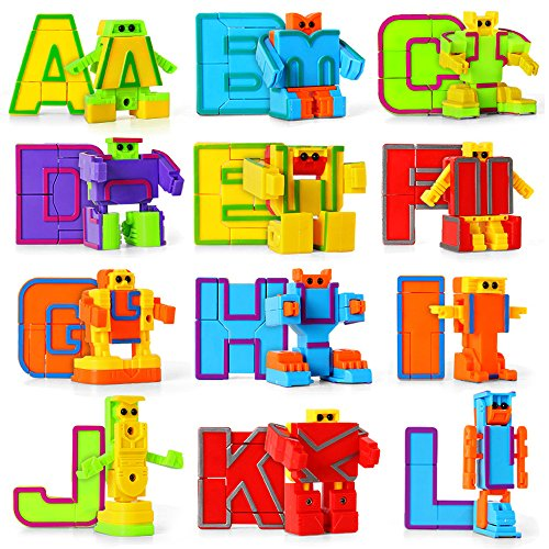 miYou Alphabet Robot Toys Set for Kids ABC Learning for Preschool Education 26 Pieces/Set