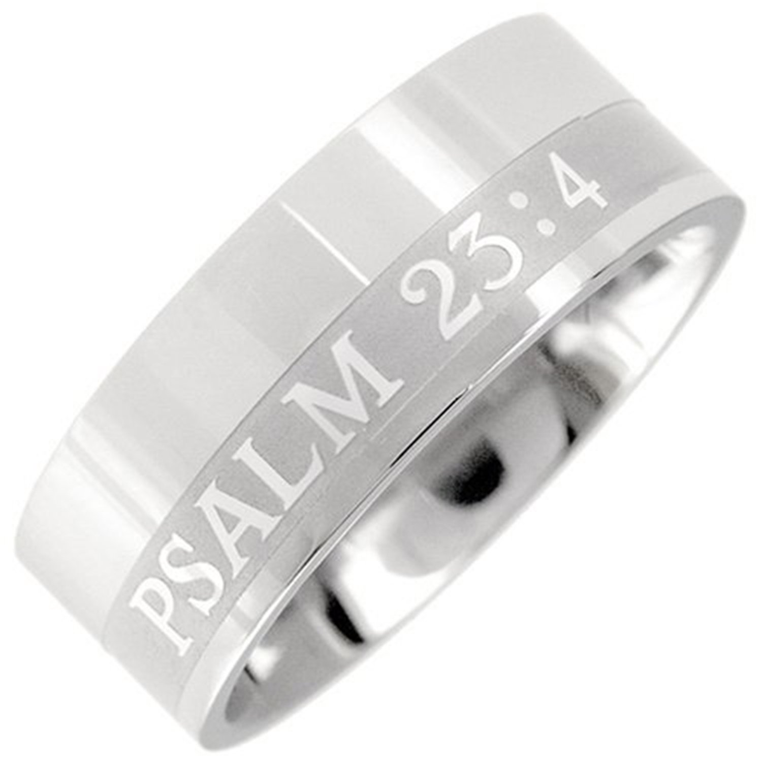 Amazon 316L Stainless Steel Christian Bible Verse Ring