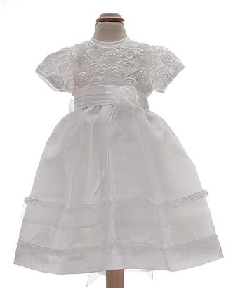 a02e7d2a3d8 Robe baptême fille - robe de baptême pour bébé fille couleur blanc 12 mois  18 mois
