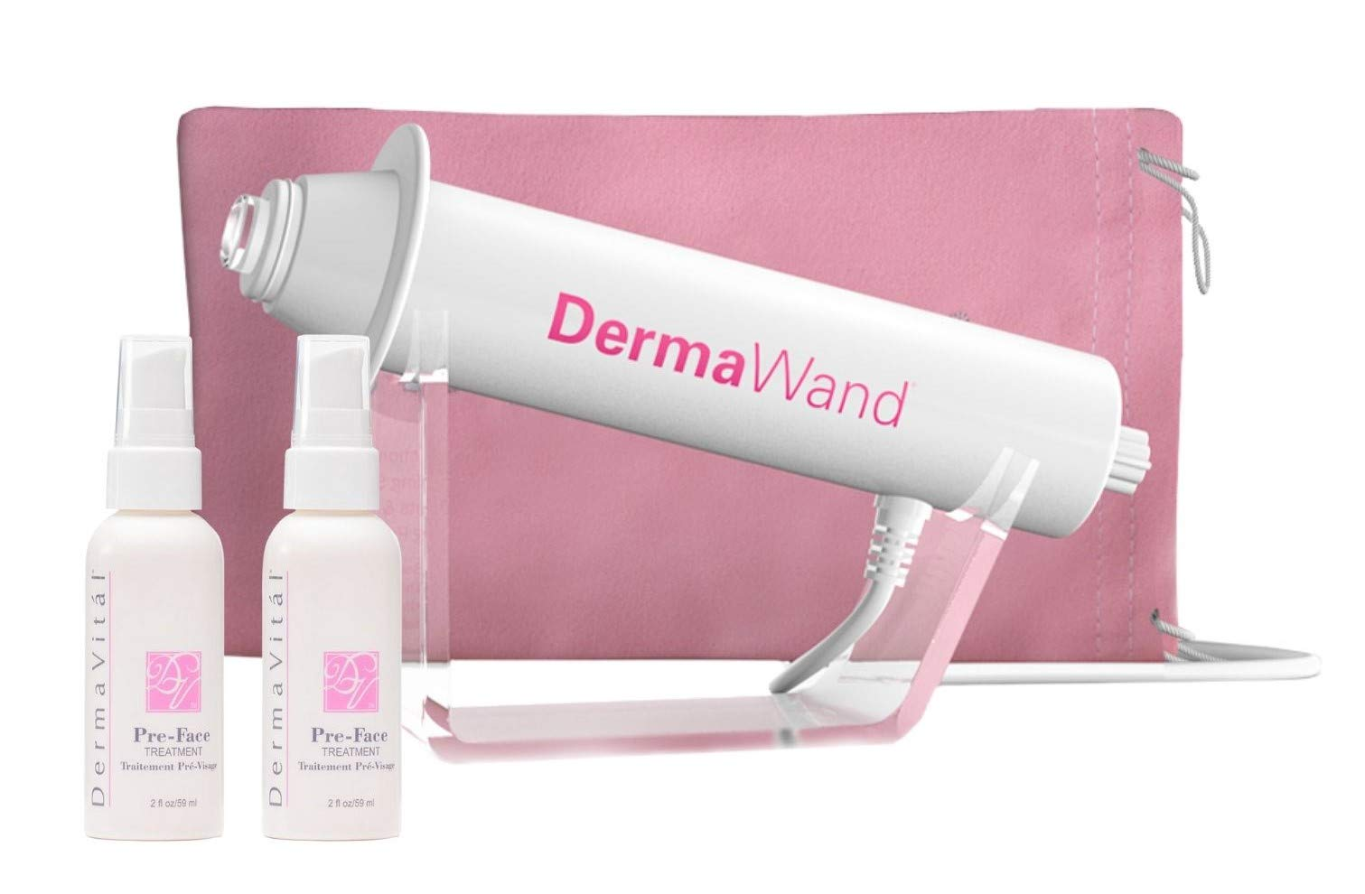 DermaWand Spanish Language Kit with 2 Preface Treatment - REDUCES WRINKLES by Dermawand