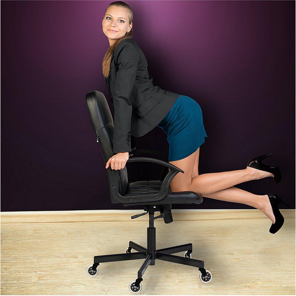 ZOTO Ruota per sedia da ufficio Proteggi il tuo tappeto // legno duro No graffi // rumore 5 x Ruote di ricambio in poliuretano morbido Ruote da 11 mm