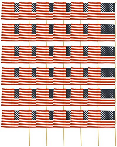 Set of 36 American Flags on Sticks! 12