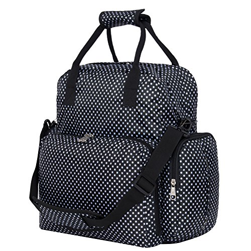 1 Big Dots (BIG SALE - Baby Diaper Bag Backpack Mom Bag, Mutli-functional Waterproof Nappy Bag Backpack Stylish Diaper Tote Bag with Detachable Changing Pad and Stroller Straps)