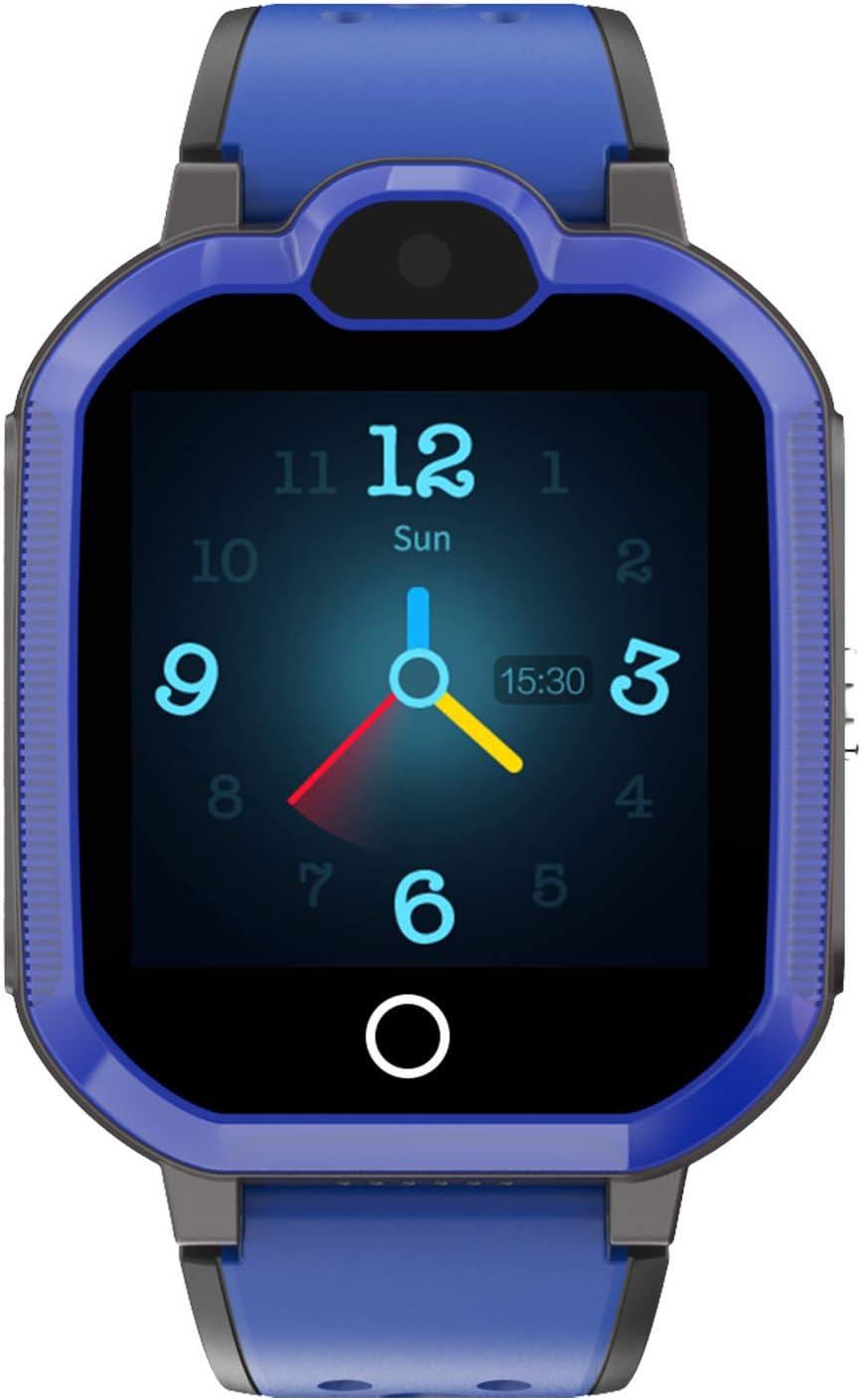 DUANQI Reloj Inteligente para Niños, Reloj Inteligente Impermeable con GPS SOS Llamada Bidireccional Fotografía, Reloj Inteligente para Niños y Niñas Navidad el Regalo,Azul