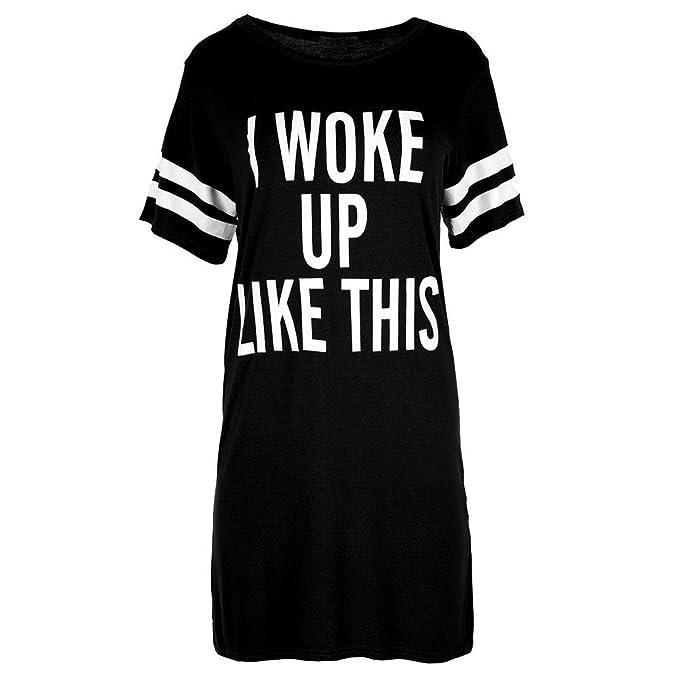 get new moderate cost dirt cheap Amazon.com: Women Ladies Oversized T-Shirt Dress Top Baggy ...