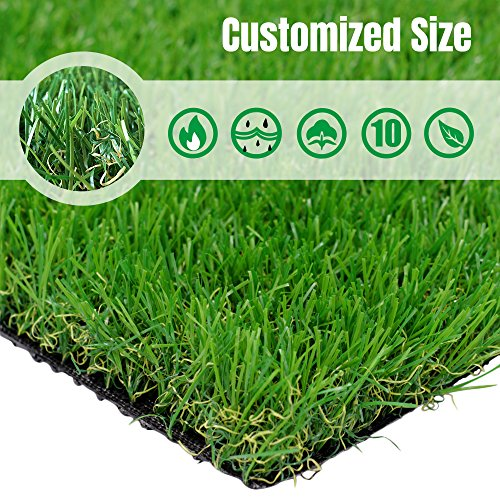 PET GROW Realistic Artificial Grass Rug Customized Sizes Available -8FTX13FT(104 Square FT) Indoor Outdoor Garden Lawn Landscape Synthetic Turf Mat - Thick Fake Grass Rug 104 Rug