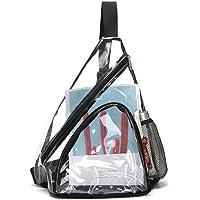 Bolso bandolera, bandolera de PVC transparente, mini mochila impermeable y resistente al desgaste para hombres y mujeres…