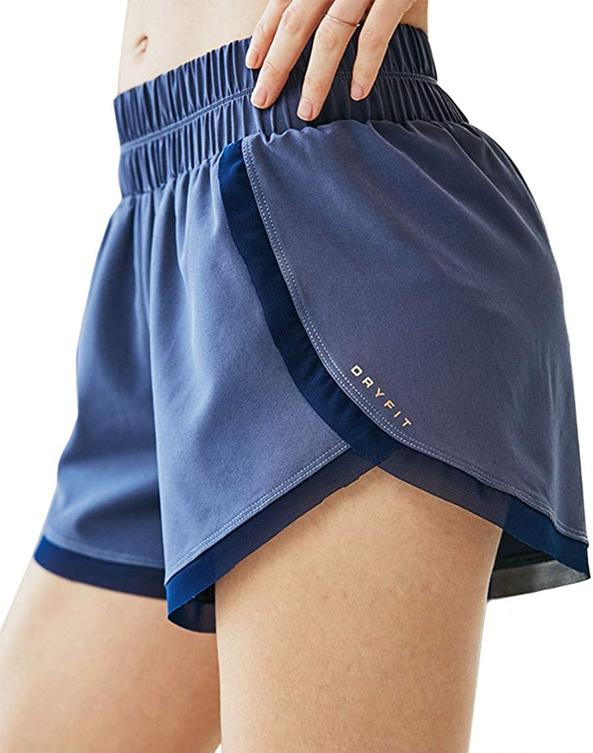 YONKINY Pantaloncini Sportivi da Donna Casual Traspirante Rapida Asciugatura Sportivi Shorts Calzoncini per Allenamento Yoga Jogging Fitness