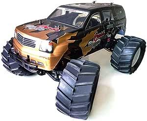 SSBH Super-large Petrol Car, Fuel Methanol Remote Control Car, 1/8 Petrol-powered High-speed Drift Model Car, 4WD Bigfoot Off-road Remote Control Car, Adult Toy Holiday Gift