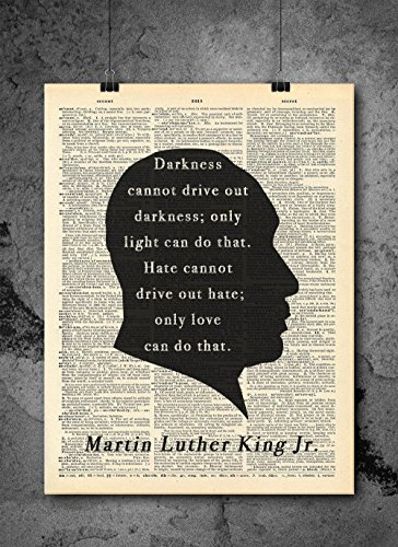 Ready Room - Martin Luther King Jr. - Quotes - Vintage Dictionary Print 8x10 inch Home Vintage Art Abstract Prints Wall Art for Home Decor Wall Decorations For Living Room Bedroom Office Ready-to-Frame