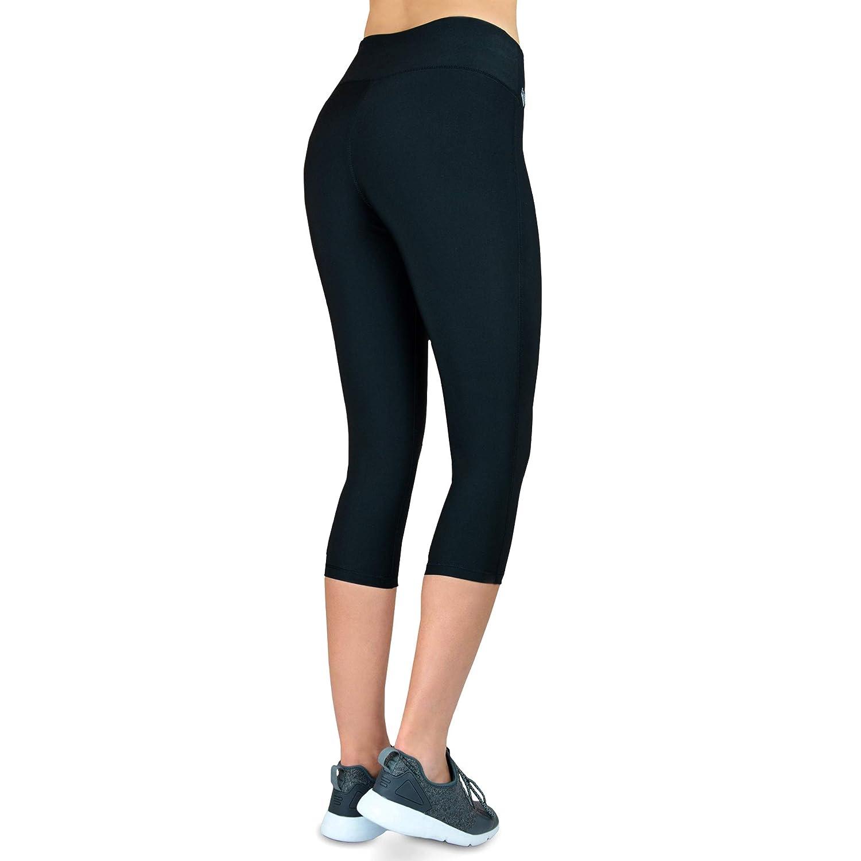 Formbelt/® Leggings Sportivi da Donna a Tre Quarti con Marsupio per Cellulare Pantaloni da Corsa Fitness Sport Fuseaux Colorati