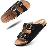 Sandalias de pala Mujer Hombre Sandalias de Vestir Mules Punta Abierta Chanclas Plano Cómodas Verano Ajustable Hebilla…